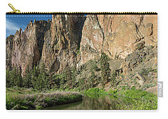 Carry-all Pouch featuring the photograph Smith Rock Spires by Greg Nyquist