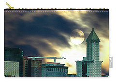 Carry-all Pouch featuring the photograph Smithtower Moon by Dale Stillman