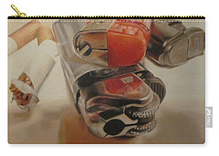 Carry-all Pouch featuring the painting Smoke Break by Cherise Foster