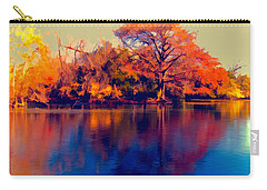 Carry-all Pouch featuring the digital art Smoke Signals by Wendy J St Christopher
