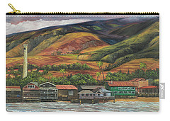 Carry-all Pouch featuring the painting Smokestack Lahaina Maui by Darice Machel McGuire