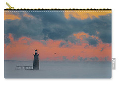 Smokey Sunrise At Ram Island Ledge Light Carry-all Pouch