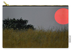 Carry-all Pouch featuring the photograph Smokey Sunset by AJ Schibig