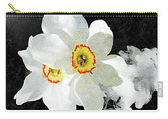 Smokey White Floral Carry-all Pouch