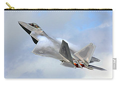 Carry-all Pouch featuring the digital art Smokin - F22 Raptor On The Go by Pat Speirs