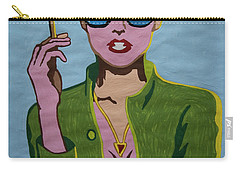 Smoking Woman Sunglasses  Carry-all Pouch