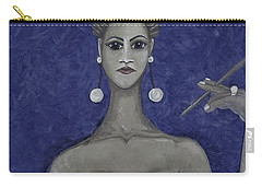 Smoking Woman 3 - Blue Carry-all Pouch