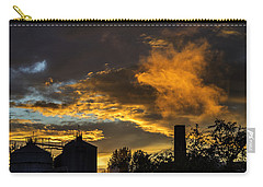 Carry-all Pouch featuring the photograph Smoky Sunset by Jeremy Lavender Photography