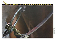 Carry-all Pouch featuring the photograph Snaffle Bit by Ann E Robson
