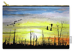 Adieu Snag Forest Carry-all Pouch by R Kyllo