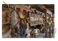 Carry-all Pouch featuring the photograph Snail Creek Hat Company by Tim Stanley