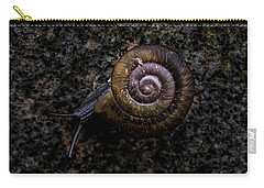 Carry-all Pouch featuring the photograph Snail by Jay Stockhaus