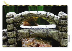 Carry-all Pouch featuring the photograph Snail Over A Bridge by Robert Knight