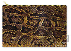 Carry-all Pouch featuring the photograph Snake Skin by Kathy Baccari