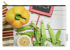 Carry-all Pouch featuring the photograph Snap Peas And Bell Pepper Still Life by Rebecca Cozart