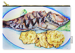 Snapper And Tostones Carry-all Pouch