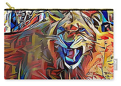 Snarling Lion Carry-all Pouch