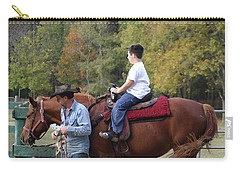 Sneaker Wearing Cowboy Carry-all Pouch by Kim Henderson