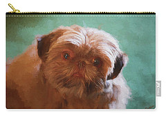 Carry-all Pouch featuring the painting Snicker Doodle 852 -  Painting by Ericamaxine Price