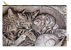 Snoring Purrs Of Kitten Brothers Carry-all Pouch