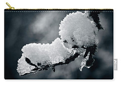 Carry-all Pouch featuring the photograph Snow - 365-284 by Inge Riis McDonald