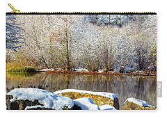 Snow Across The Lake Carry-all Pouch