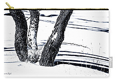 Snow And Shadows Carry-all Pouch by Karen Slagle