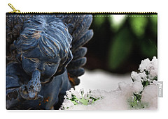 Carry-all Pouch featuring the photograph Snow Angel Whisperer by Shelley Neff