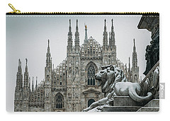 Snow At Milan's Duomo Cathedral  Carry-all Pouch
