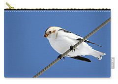 Snow Bunting Carry-all Pouch by Brook Burling