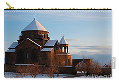 Snow Capped St. Hripsipe Church At Winter, Armenia Carry-all Pouch
