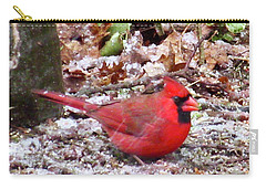 Snow Cardinal  Carry-all Pouch