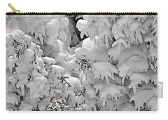 Carry-all Pouch featuring the photograph Snow Coat by Alex Grichenko