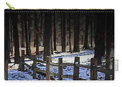 Snow Covered Bridge Carry-all Pouch by Kim Henderson