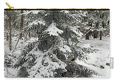 Snow Covered Evergreen Carry-all Pouch