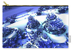 Snow Covered Fractal Carry-all Pouch by Melissa Messick