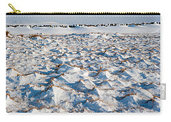 Snow Covered Grass Carry-all Pouch