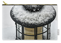 Carry-all Pouch featuring the photograph Snow Covered Lamp by Phil Abrams