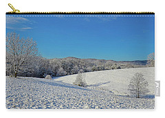 Snow Covered Pasture Carry-all Pouch