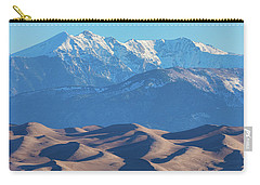 Snow Covered Rocky Mountain Peaks With Sand Dunes Carry-all Pouch by James BO Insogna