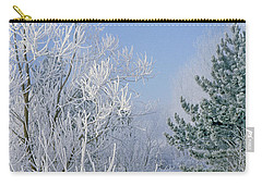2a357 Snow Covered Trees At Alum Creek State Park Carry-all Pouch