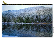 Snow Covered Trees Reflections Carry-all Pouch by Lynn Hopwood