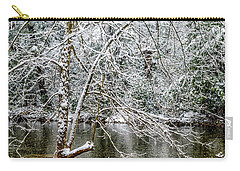 Carry-all Pouch featuring the photograph Snow Cranberry River by Thomas R Fletcher