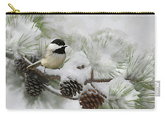 Carry-all Pouch featuring the photograph Snow Day by Lori Deiter