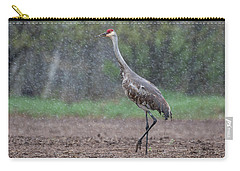 Carry-all Pouch featuring the photograph Snow Day by Thomas Young