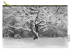Snow Dusted Tree Carry-all Pouch