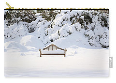 Snow Dwarfed Bench Carry-all Pouch