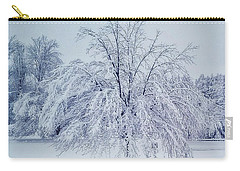 Snow Encrusted Tree Carry-all Pouch