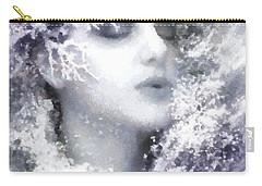 Carry-all Pouch featuring the digital art Snow Fairy  by Gun Legler
