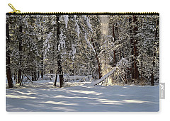 Snow Falling Off Cedars Carry-all Pouch